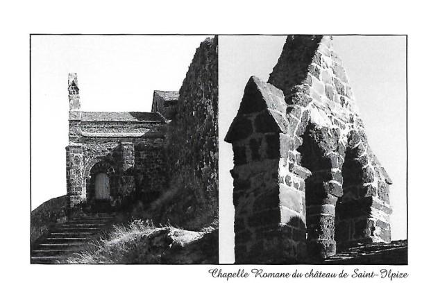 N&B - Chapelle Romane du Château de Saint-Ilpize