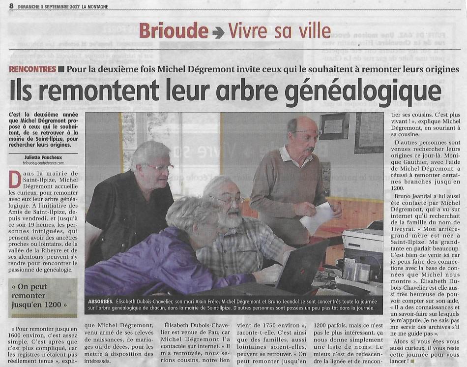 Article généalogie - La Montagne